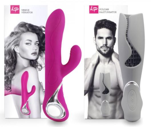 LoversPremium Venus & Vulcan Couples Set Pink & Grey